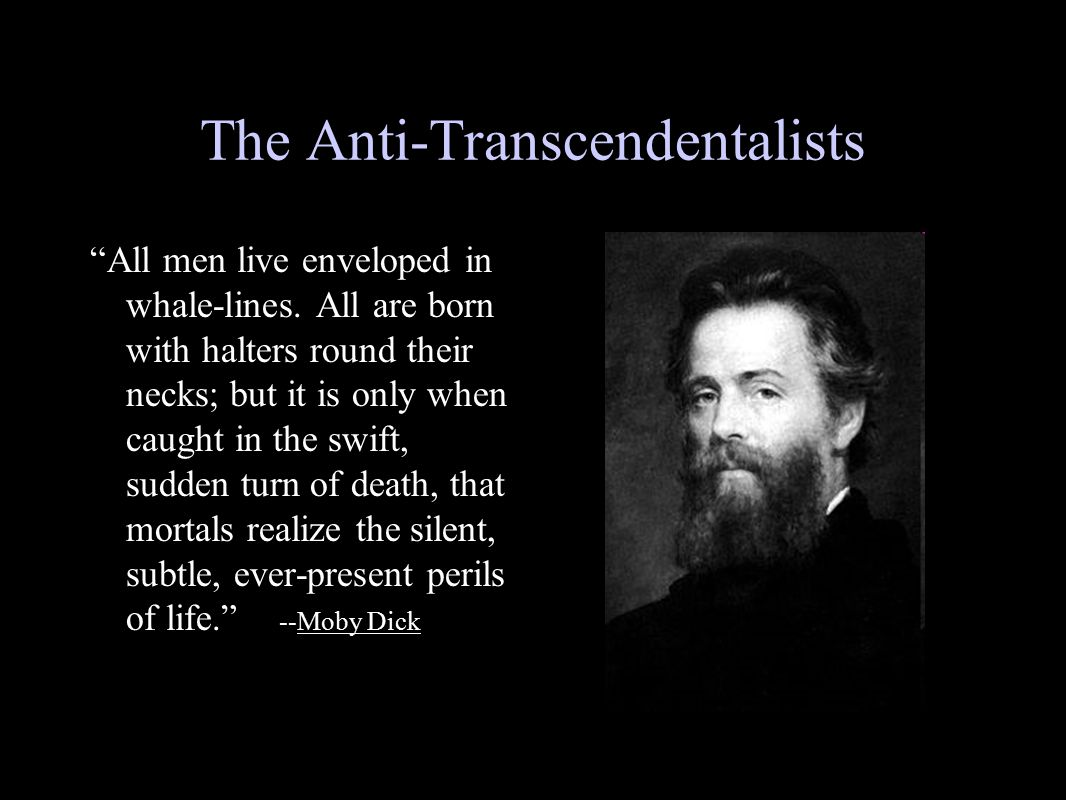 The Anti-Transcendentalists
