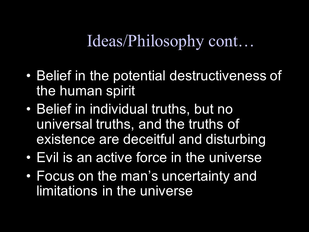 Key Ideas/Philosophy cont…