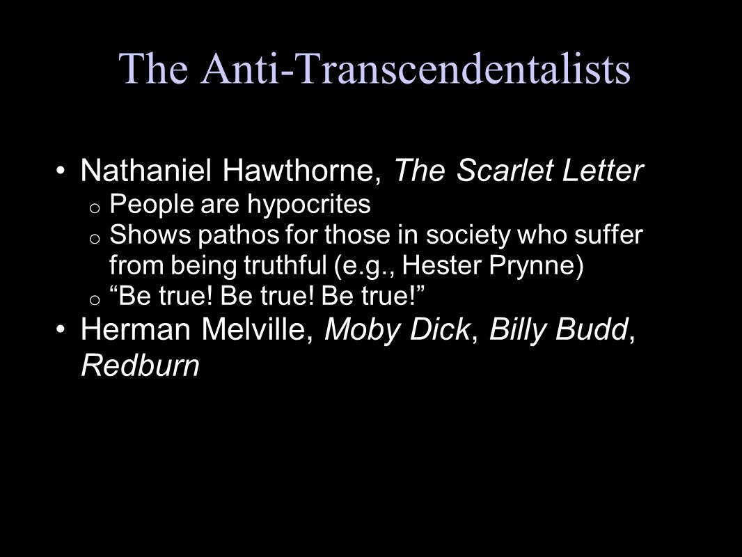 commentary on transcendentalism throughout moby dick essay