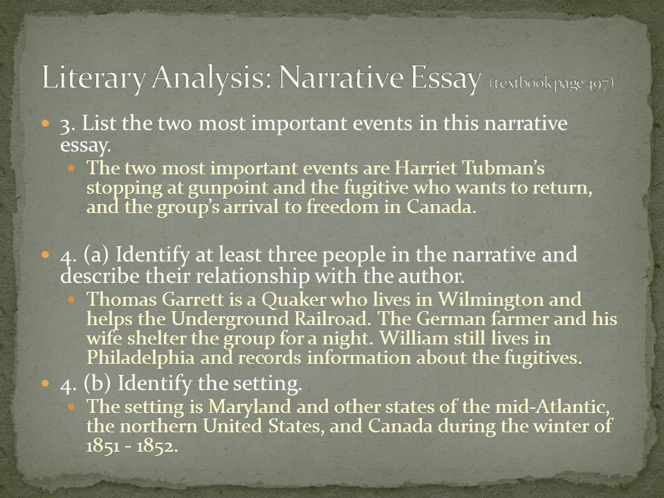 from harriet tubman conductor on the underground railroad ppt  literary analysis narrative essay textbook page 497