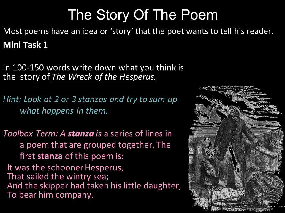 the wreck of the hesperus and What literary devices and figurative language can you find in these lines of poetry most will have more than one answer you can also play by com.