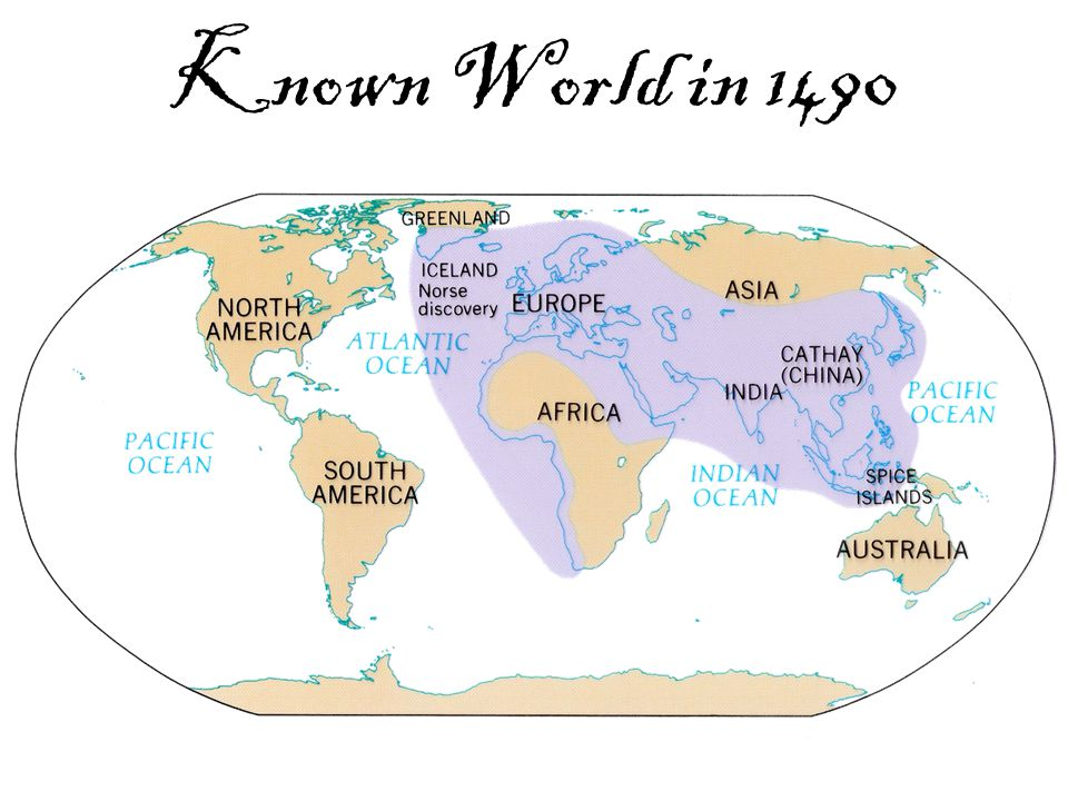 Known World in 1490
