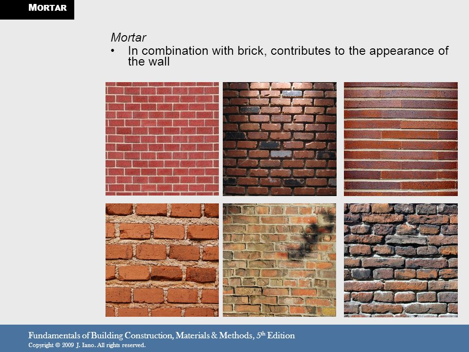 Wall Construction Materials : Brick masonry stone and the strongest