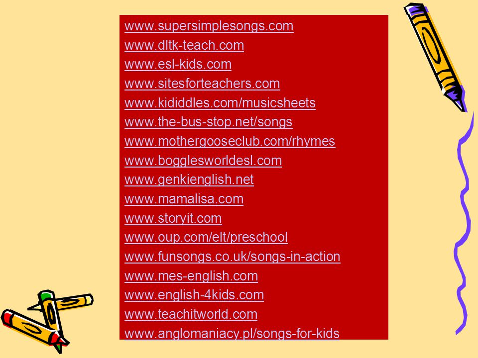 wwwsupersimplesongscom wwwdltk teachcom wwwesl - Dltk Teach