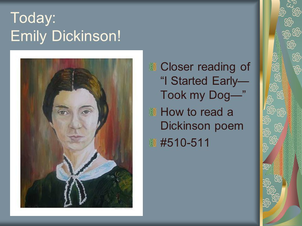 how does emily dickinson try to Emily dickinson: emily dickinson's emily dickinson, in full emily elizabeth dickinson, (born december 10, 1830  try again later edit mode emily dickinson.