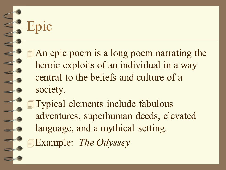 how to start an epic poem
