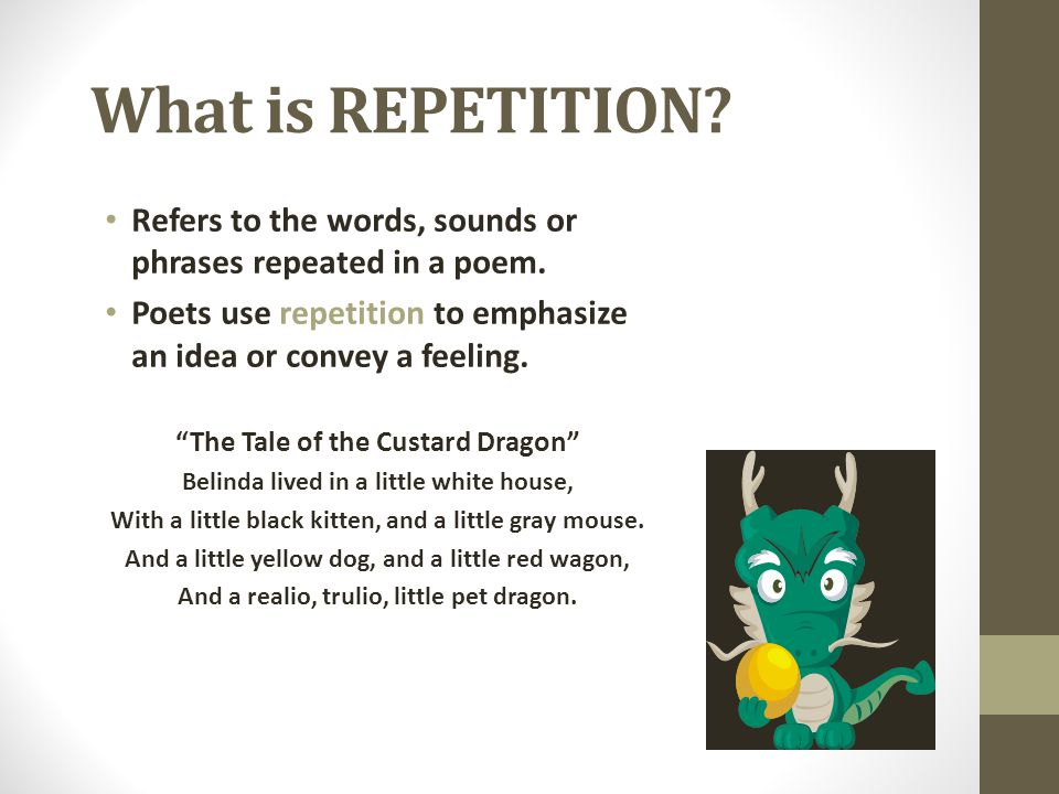 use of repetition in a tale Repetition as a rhetorical device: effect & examples dickens' a tale of two cities use repetition to repetition as a rhetorical device in literature and.