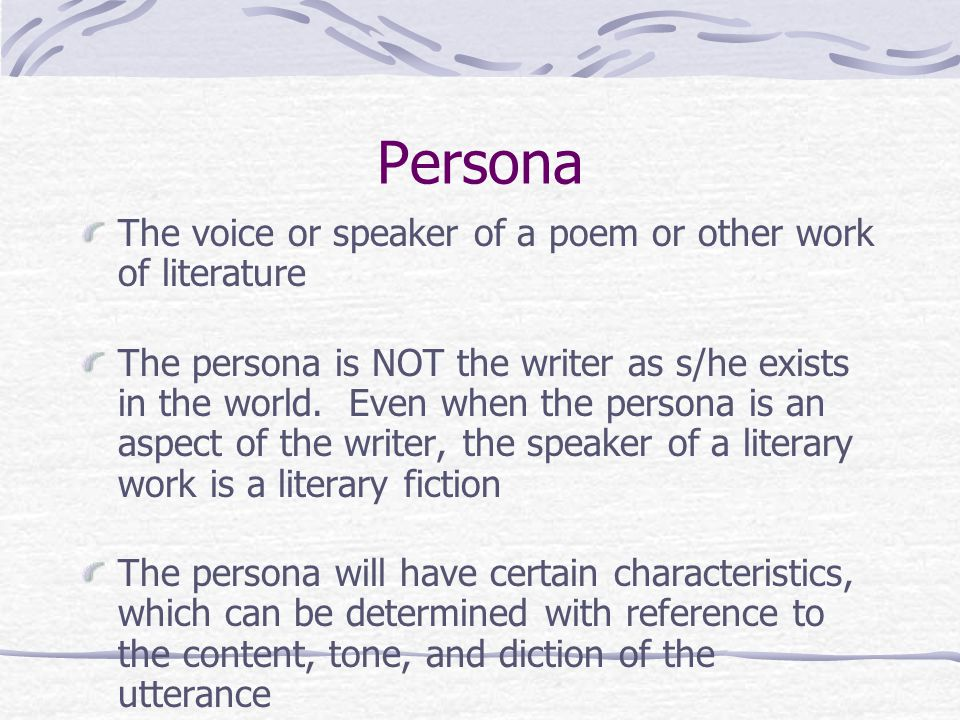 how to write persona poem