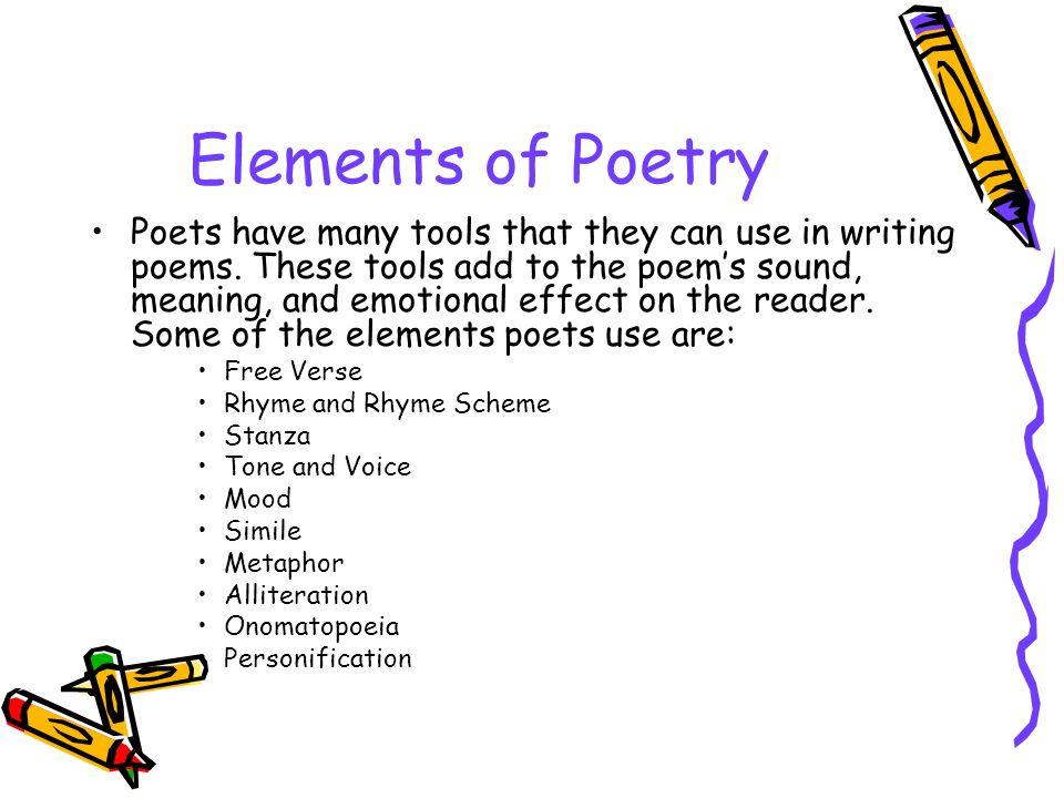 Poetry elements idealstalist poetry elements urtaz Image collections