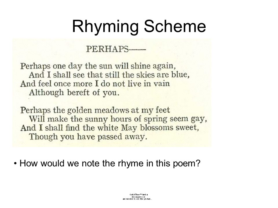 how to write rhyme scheme