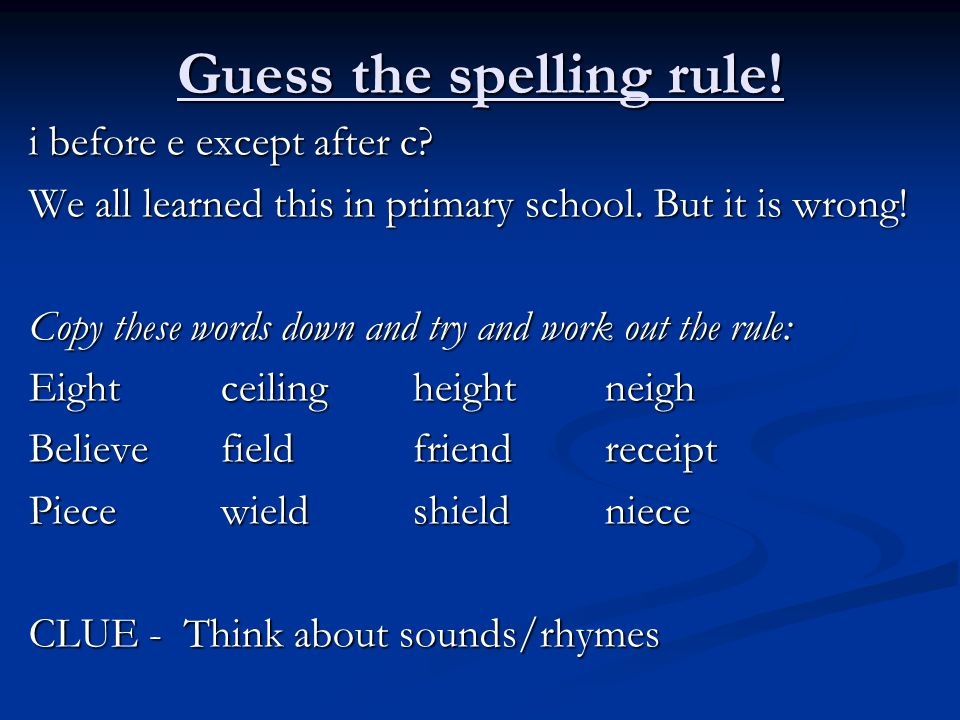 Common letter patterns ppt video online download guess the spelling rule sciox Image collections