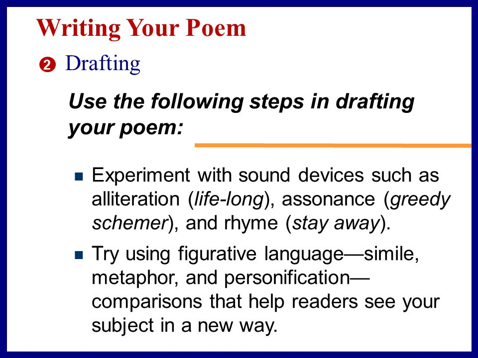 Writing Your Poem Drafting