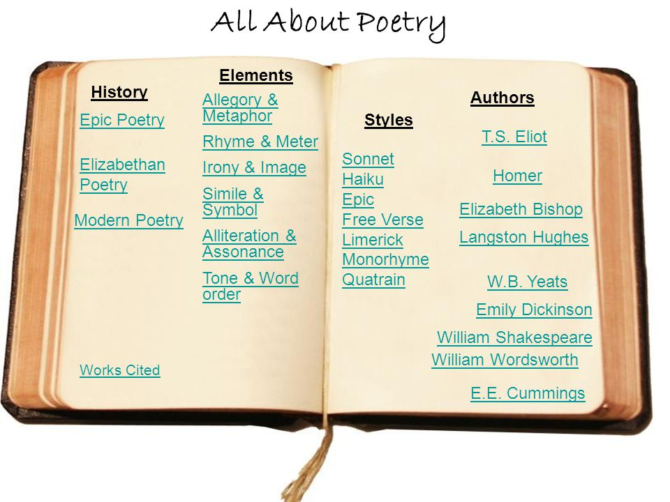 All About Poetry Elements History Authors Allegory & Metaphor