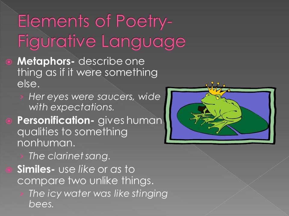 Elements of Poetry- Figurative Language