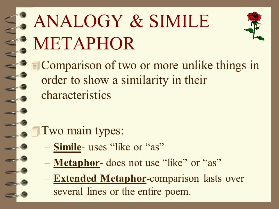 methaphors simile of mother