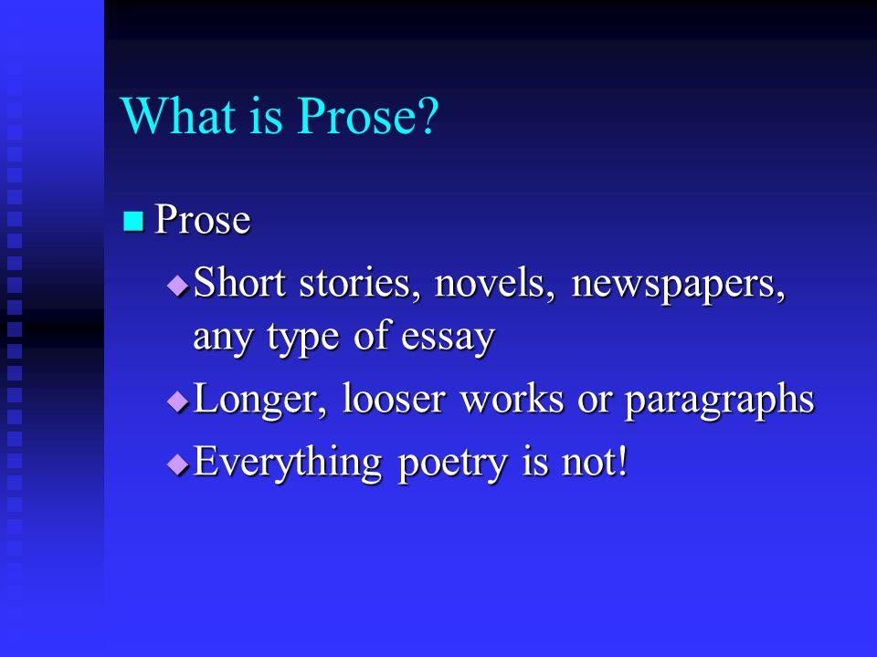 short prose essays
