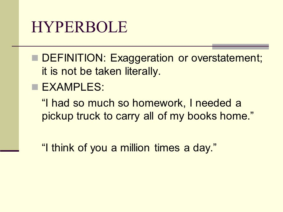 Hyperbole Meaning And Examples Gallery Example Cover Letter For Resume