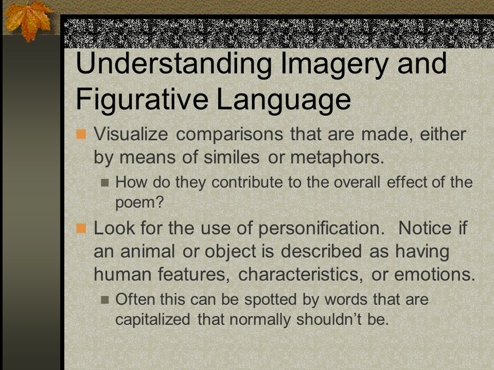 Understanding Imagery and Figurative Language
