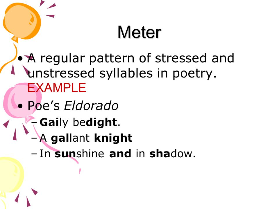 Meter In Poetry Examples Selol Ink