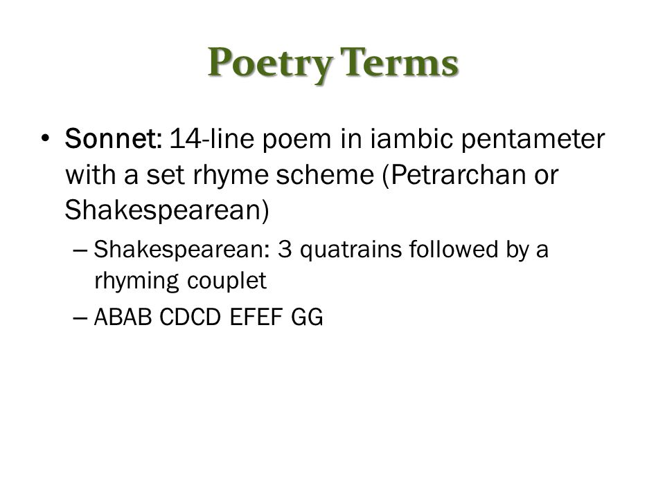 how to create a sonnet