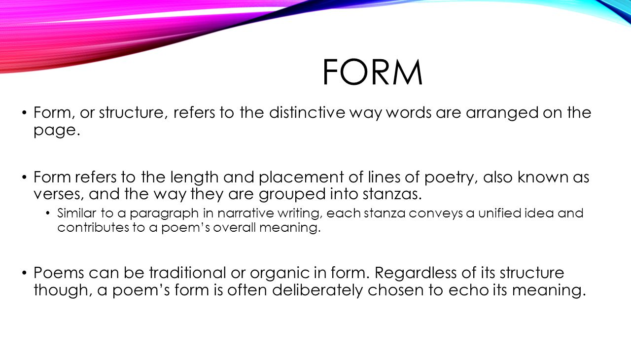 5 form form or structure