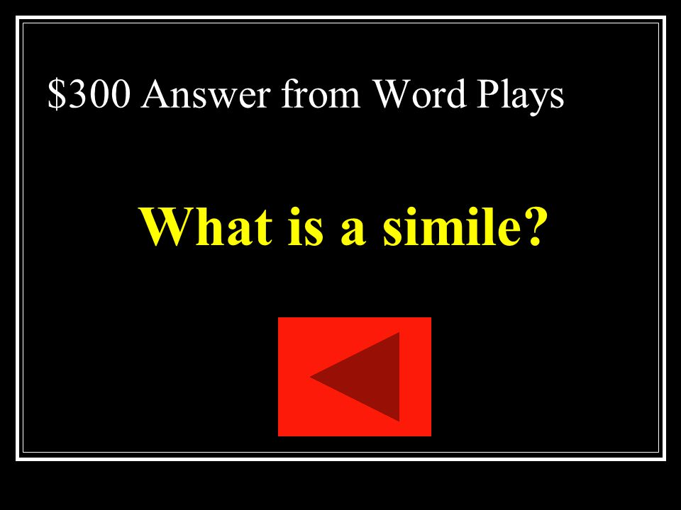 $300 Answer from Word Plays