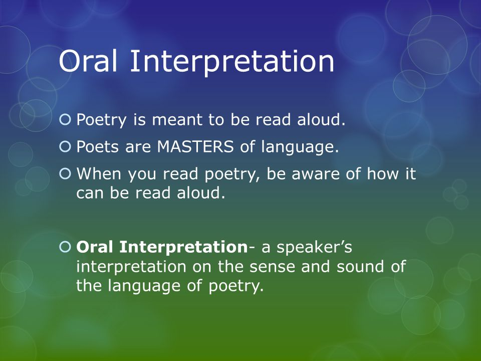 interpretation of literature Poetry, literature that evokes a concentrated imaginative awareness of experience or a specific emotional response through language chosen and arranged for its meaning, sound, and rhythm.