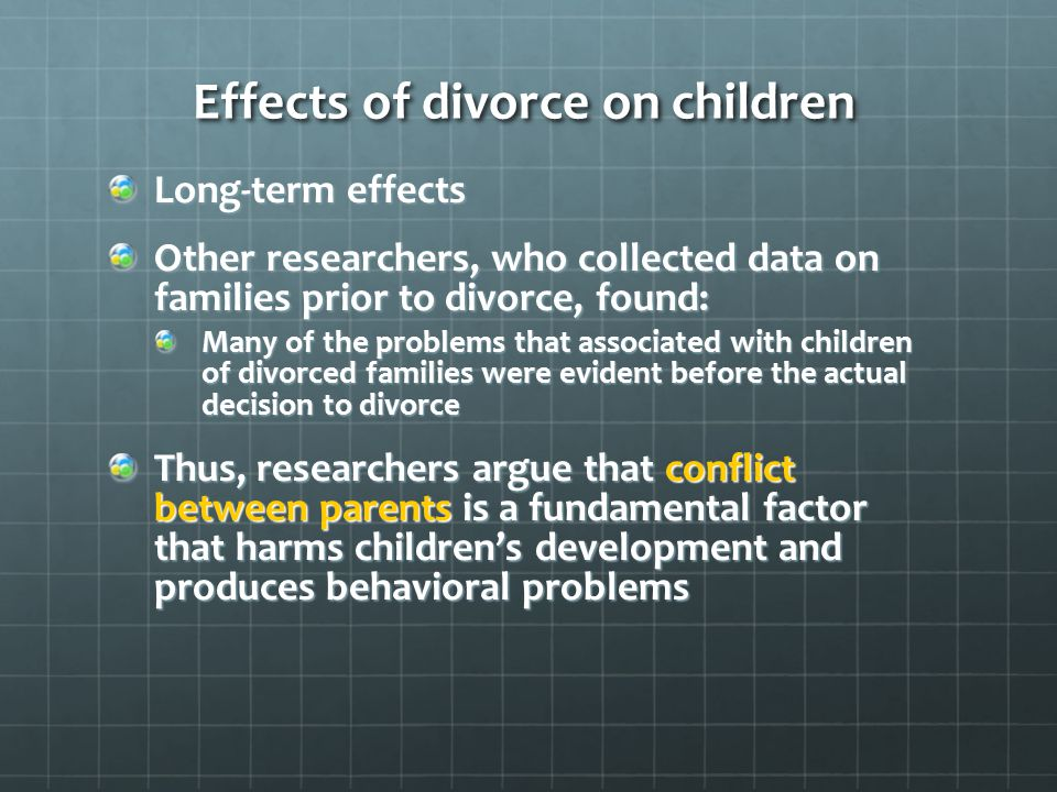 child divorce effects paper term Ing the long run effects of marital disruption on children's educational attainments  in particular, few  of divorce on child long-term educational outcomes remain  scarce  institute for research on poverty discussion paper.