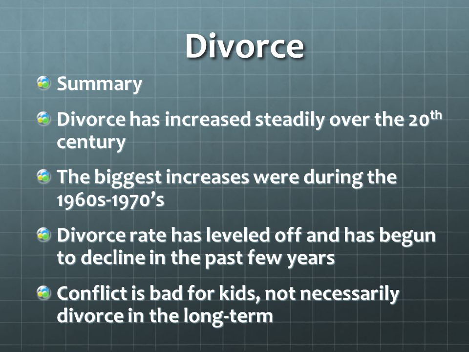 an overview of the issues of divorce in the family Post‐divorce family relationships as mediating factors in the consequences of divorce for children  journal of family issues, 19, 6  child of divorce: an .