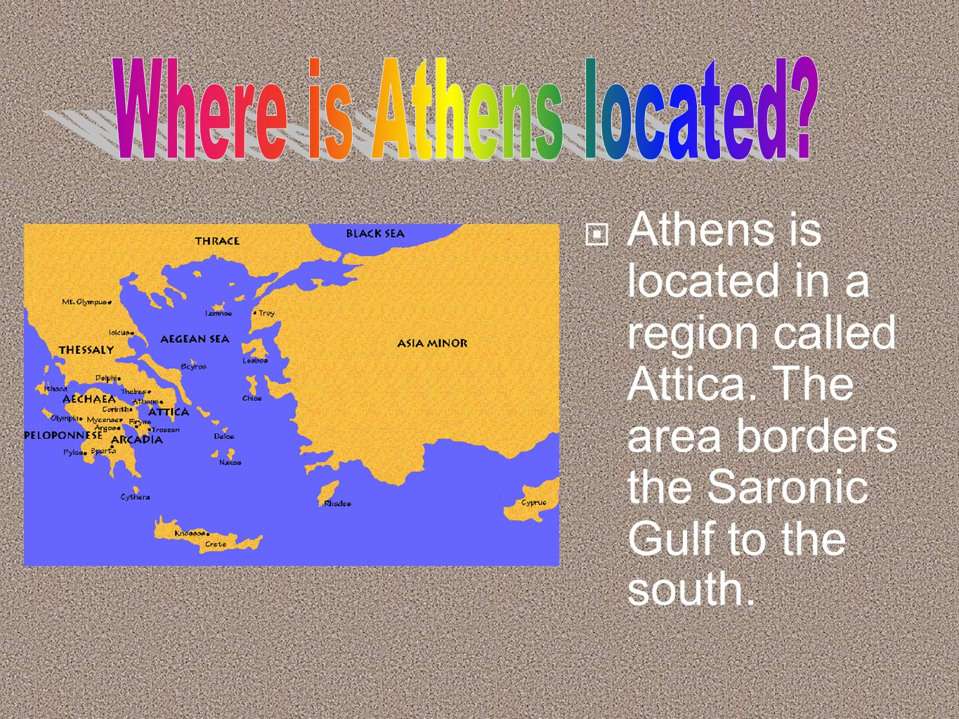 Athens And Sparta Became The Two Most Powerful Citystates In - Where is athens located