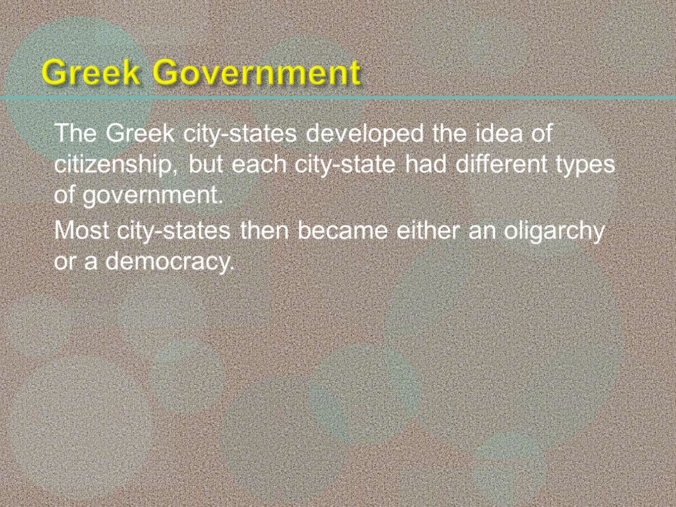 an analysis of the two types of government in greece This analysis was later shown to  the european central bank also provided support to greece in two  the tsipras government wanted three types of.