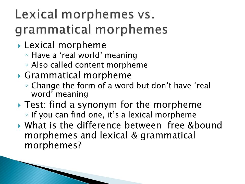 Morphology A review. - ppt download