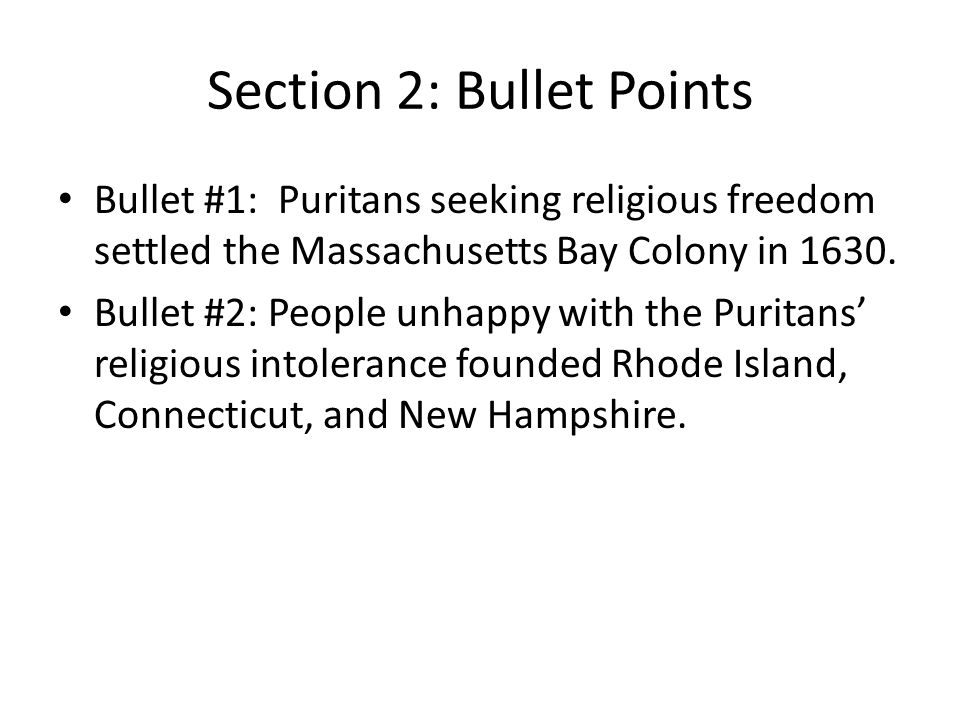 religious freedoms in colonial new hampshire A new colonial time line  the puritans were seeking a new life of religious freedom in america  this is newly added information for new hampshire (11/03/05).