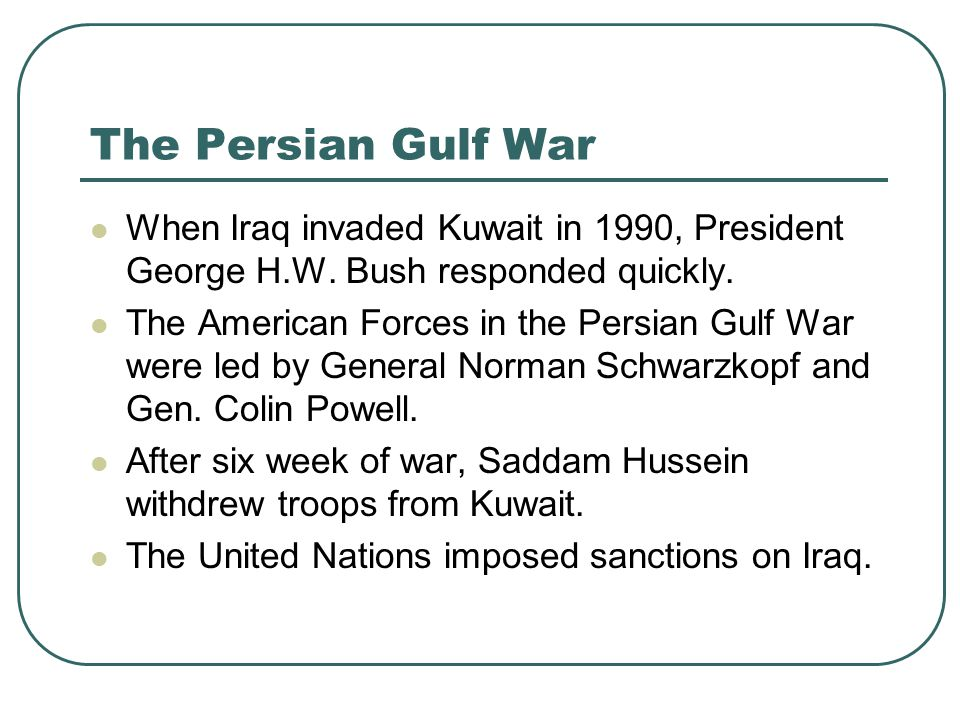 essay explaining iraq invading kuwait President george w bush's decision to invade iraq on march 20, 2003, was not   he had invaded kuwait and started a bloody war against iran  treated  increasingly definitively86 only the summary of the nie was partially  consider  before the fact that invasion would trigger such turmoil helps explain.