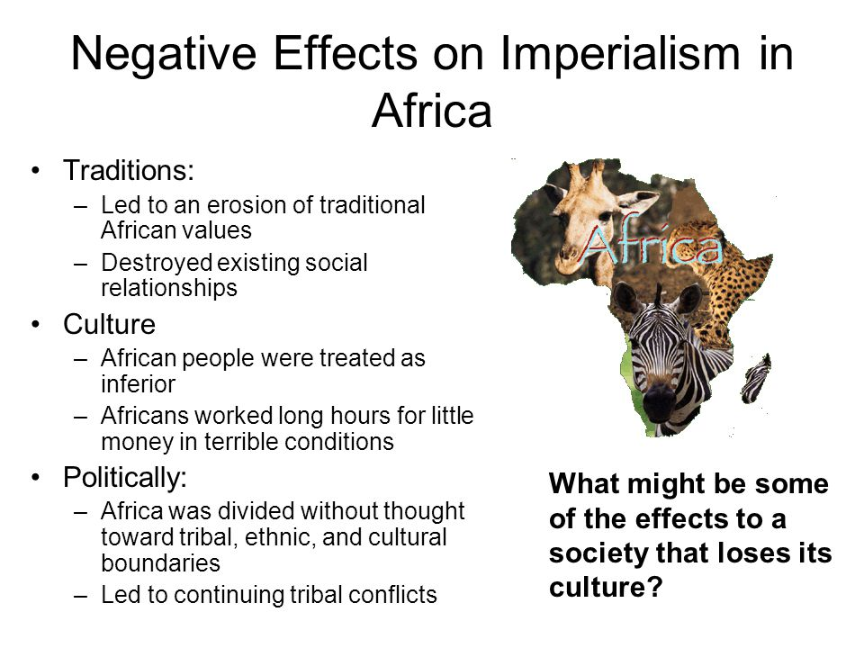 Negative Effects on Imperialism in Africa