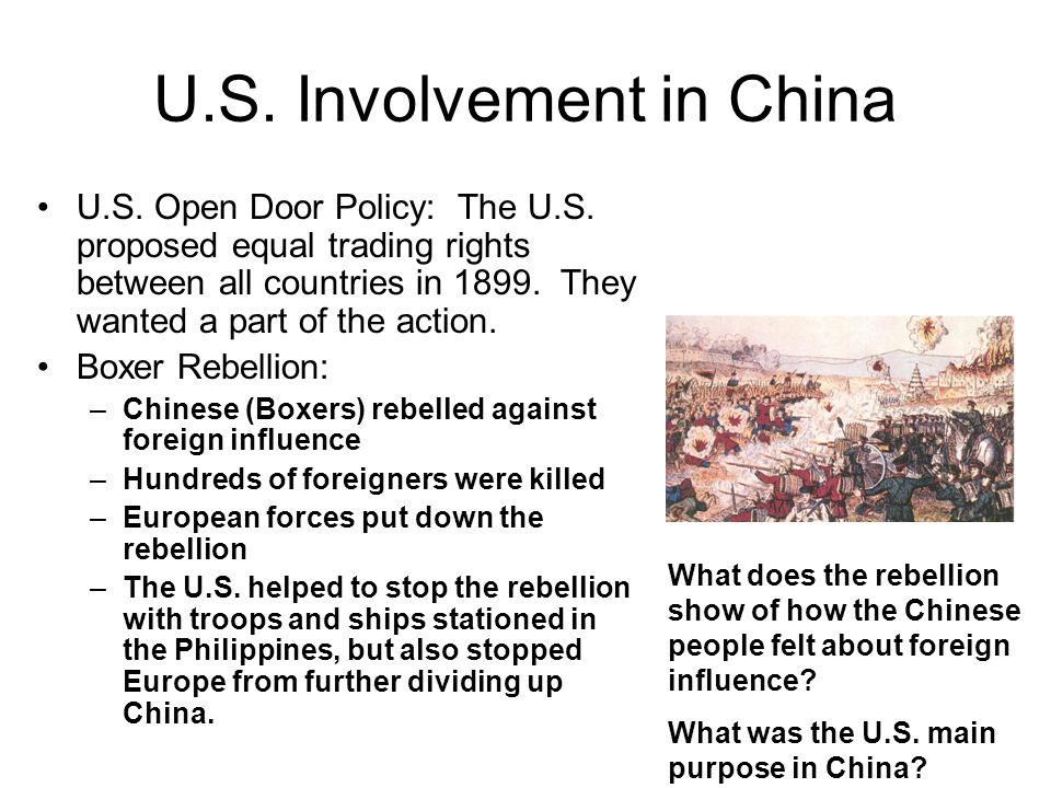 U.S. Involvement in China