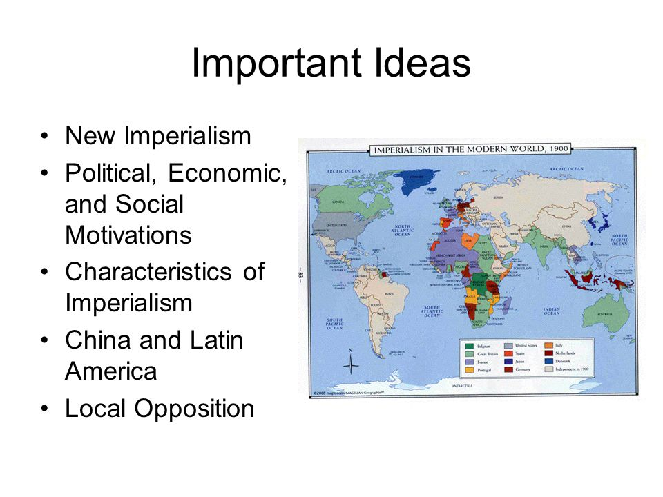 Important Ideas New Imperialism