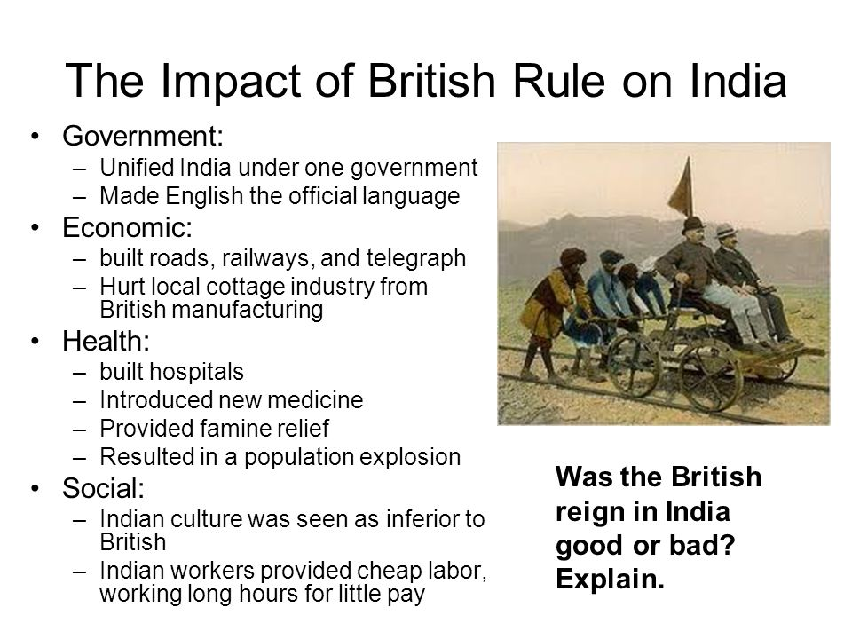 The Impact of British Rule on India