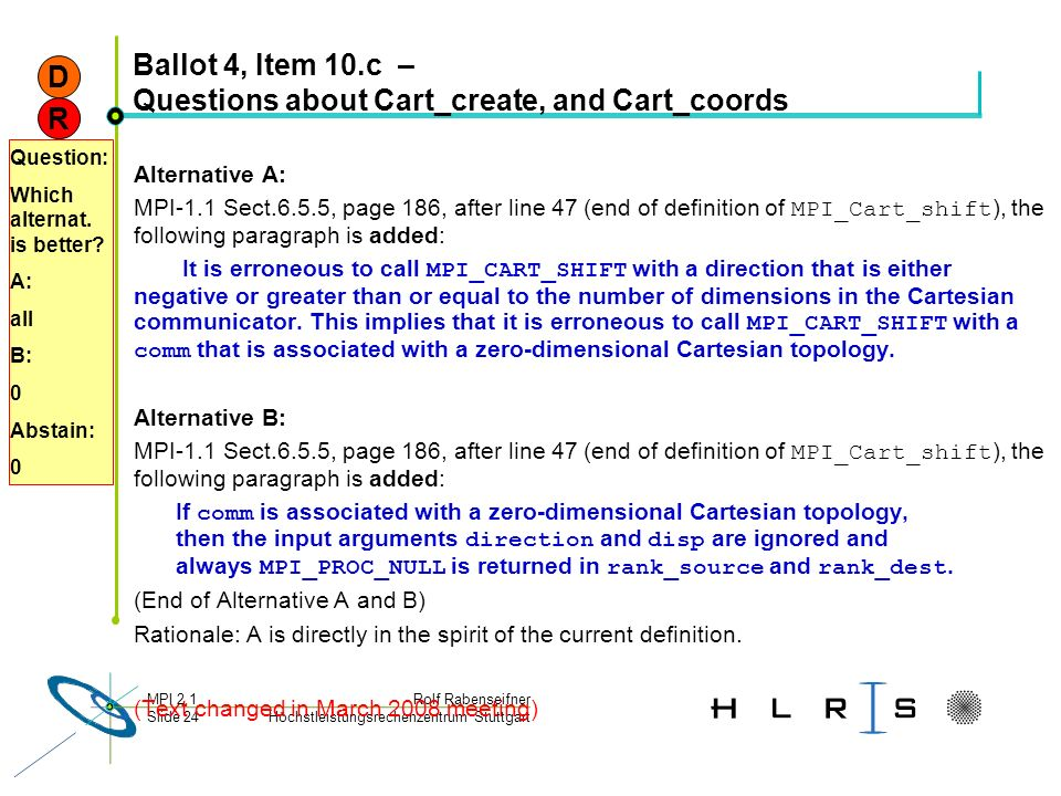 Ballot 4, Item 10.c – Questions about Cart_create, and Cart_coords
