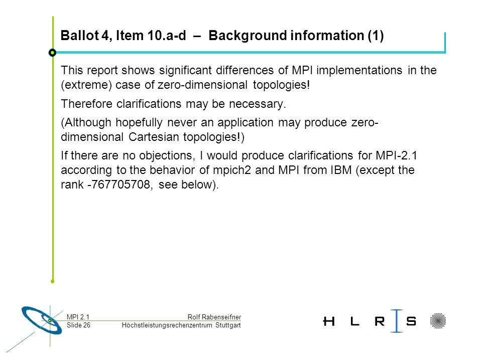 Ballot 4, Item 10.a-d – Background information (1)