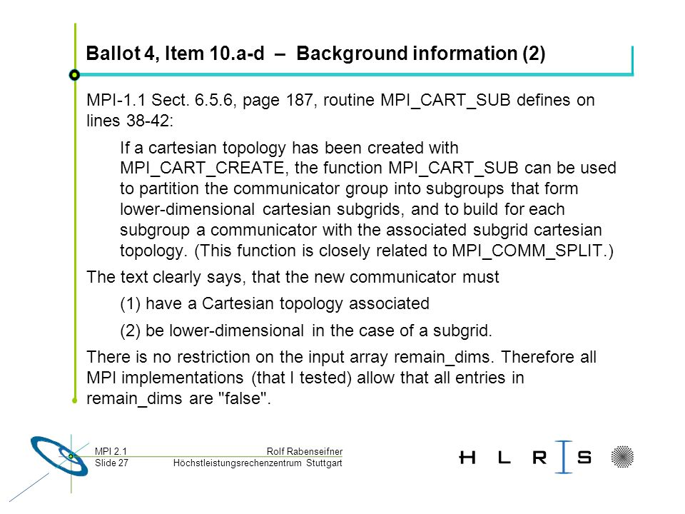 Ballot 4, Item 10.a-d – Background information (2)