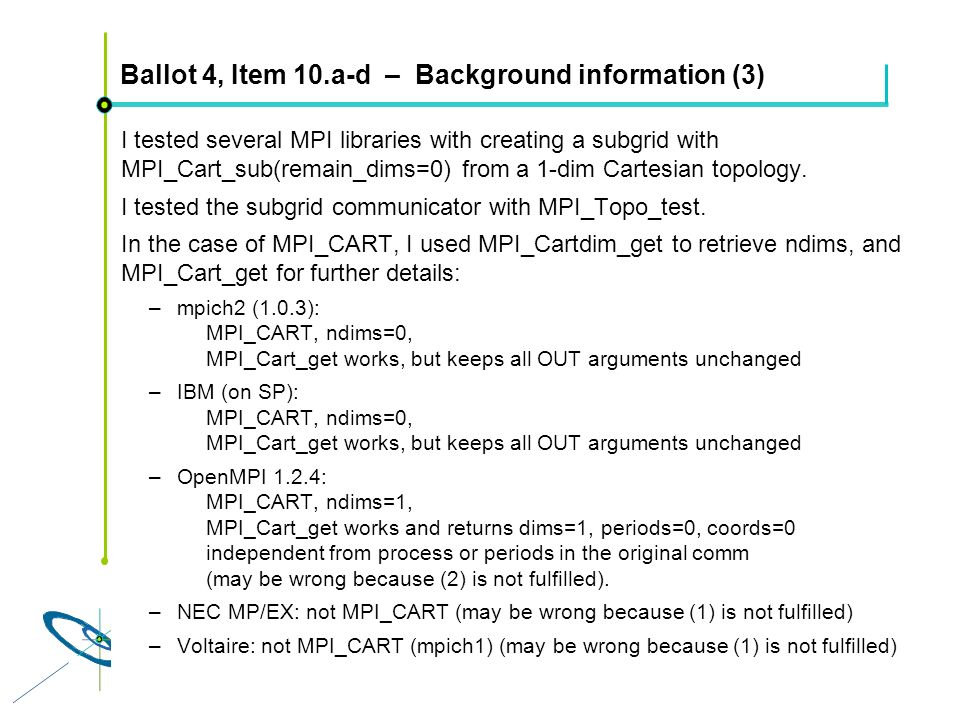Ballot 4, Item 10.a-d – Background information (3)