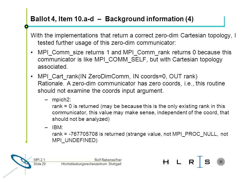 Ballot 4, Item 10.a-d – Background information (4)
