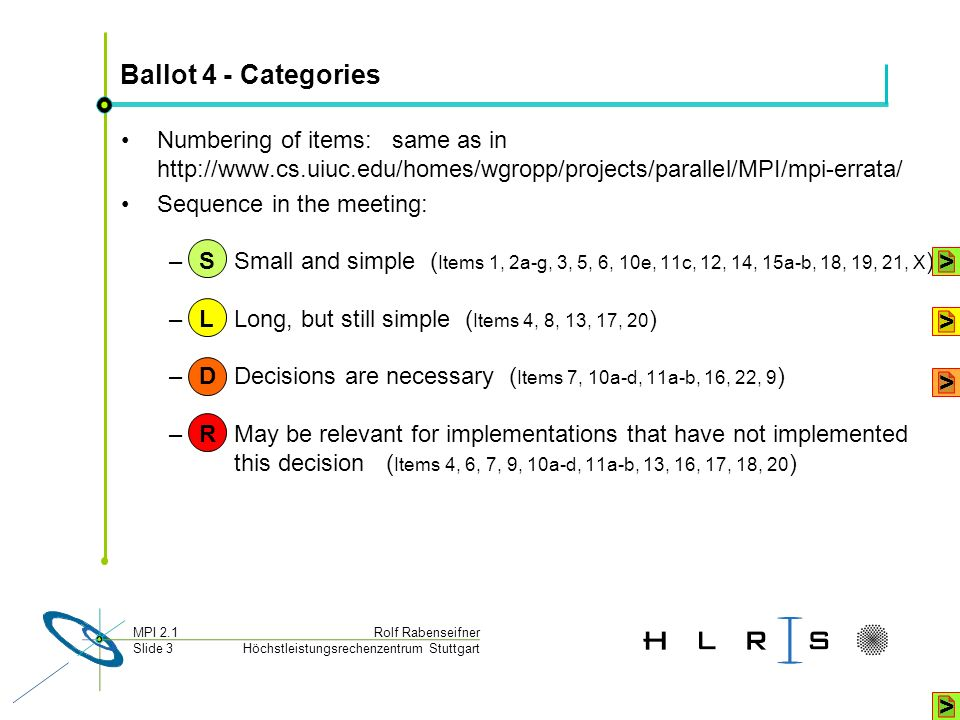 Ballot 4 - Categories > > > >