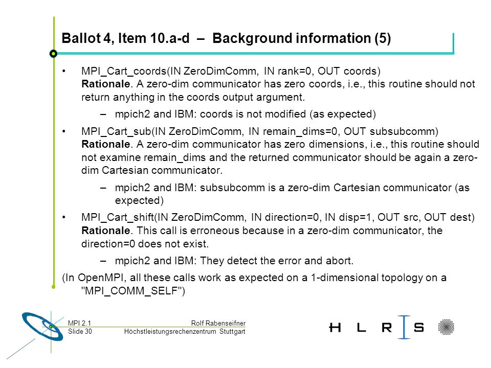 Ballot 4, Item 10.a-d – Background information (5)