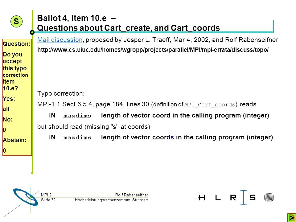 Ballot 4, Item 10.e – Questions about Cart_create, and Cart_coords