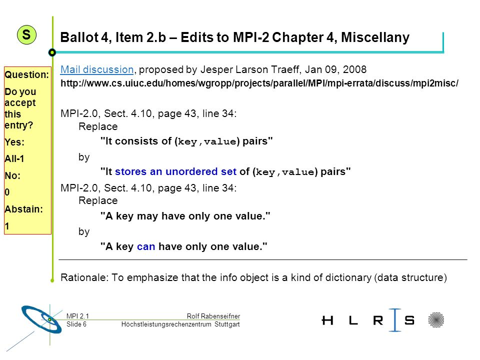 Ballot 4, Item 2.b – Edits to MPI-2 Chapter 4, Miscellany