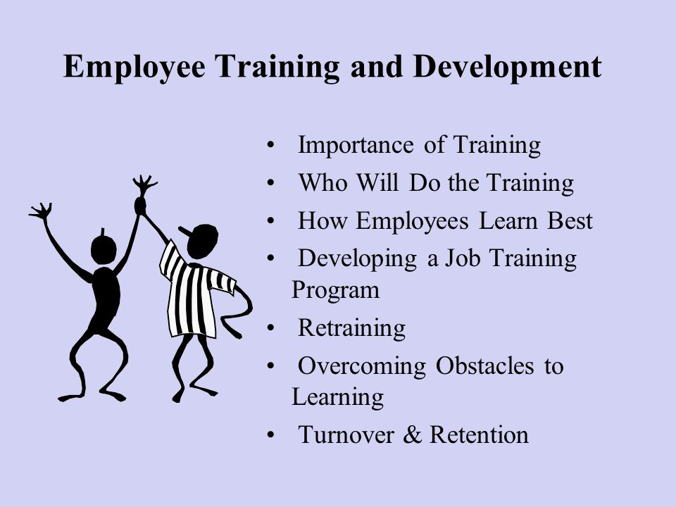 the imotance of training and devlopment Who is responsible for employee training and development when selecting employee training and development methods, it is important.