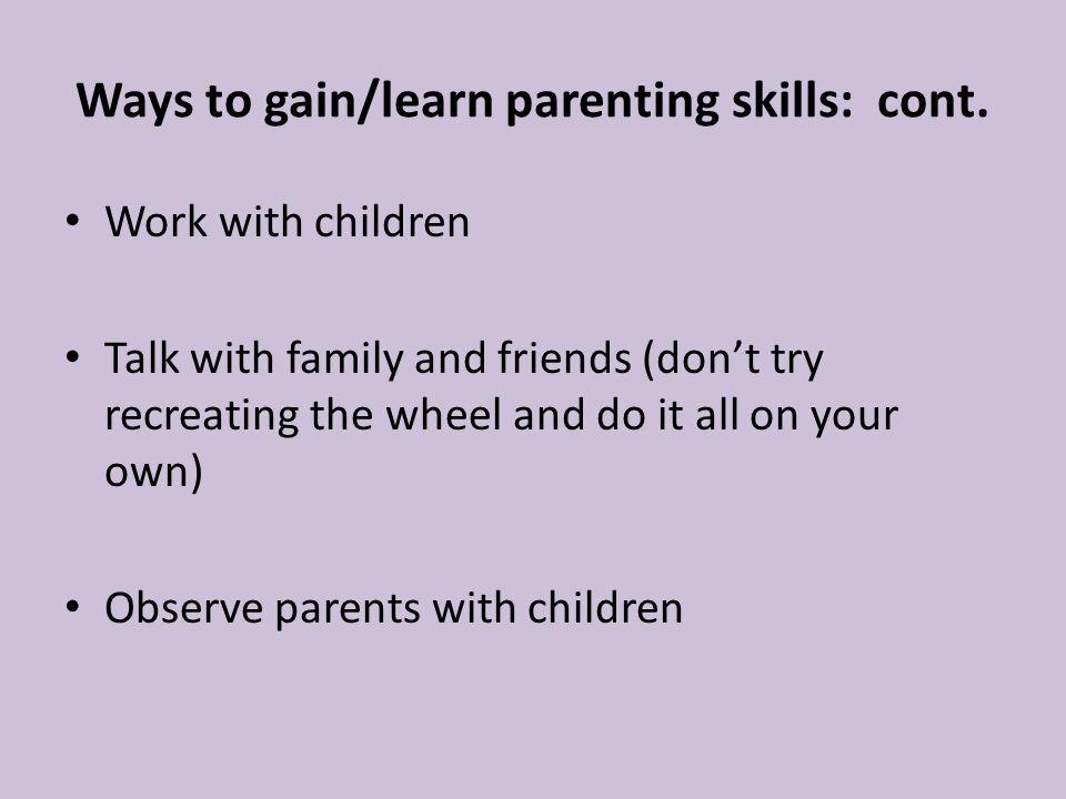 parent skills chapter 2