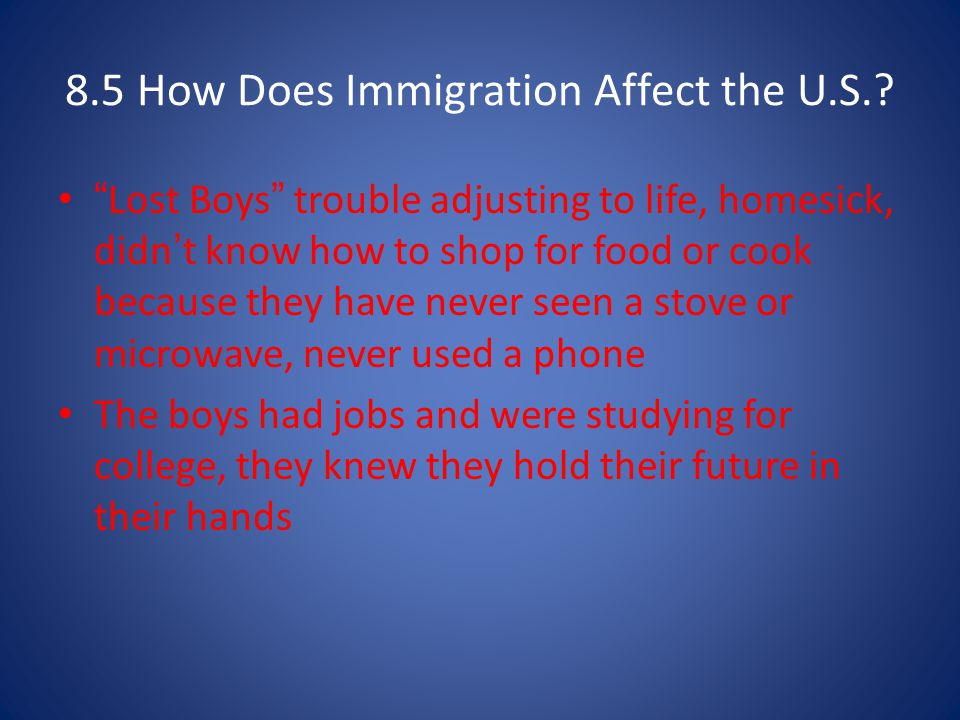 8.5 How Does Immigration Affect the U.S.
